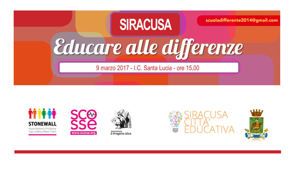 educare alle differenze siracusa 2017